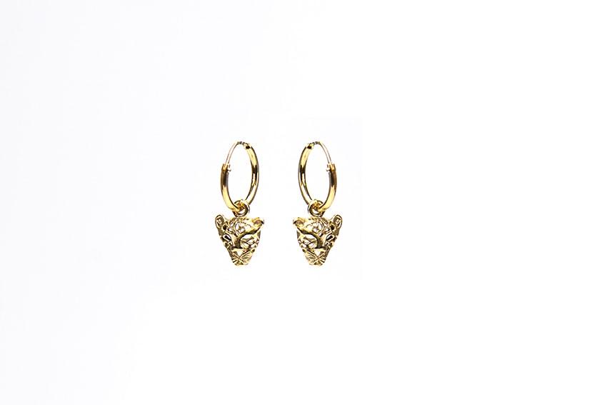 ring oorbellen met hanger