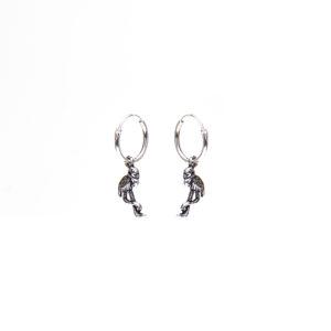 karma- flamingo-sterling silver- oorring