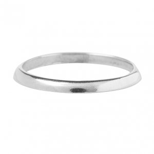 CHARMINS | 925 ZILVEREN GLADDE BASIS RING