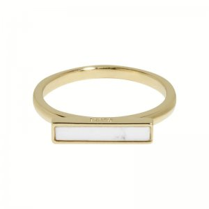 IDYLLE GOLD MARBLE BAR RING