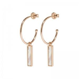 CLUSE | IDYLLE ROSE GOLD MARBLE BAR HOOP EARRINGS