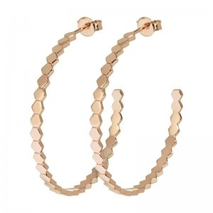 CLUSE | ESSENTIELLE ROSE GOLD ALL HEXAGONS HOOP EARRINGS