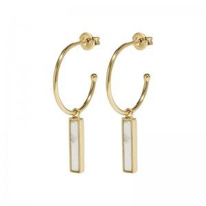 CLUSE | IDYLLE GOLD MARBLE BAR HOOP EARRINGS