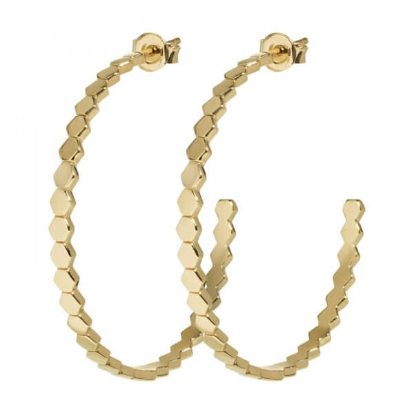 CLUSE | ESSENTIELLE GOLD ALL HEXAGONS HOOP EARRINGS
