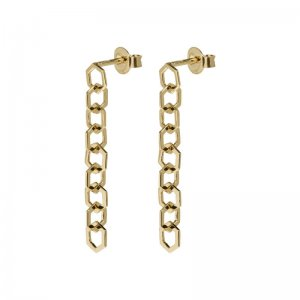 CLUSE | ESSENTIELLE GOLD HEXAGON STUD EARRING
