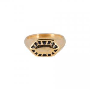 charmins goud staal fancy zegelring
