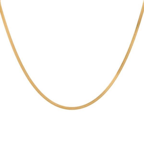 snake chain necklace eline rosina