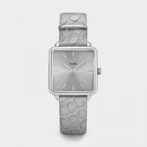 La Tétragone | Silver/Soft | Grey Alligator