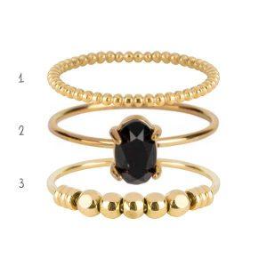 set ringen staal goud