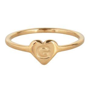 ring met letter g goud