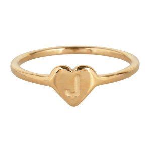ring met letter j goud