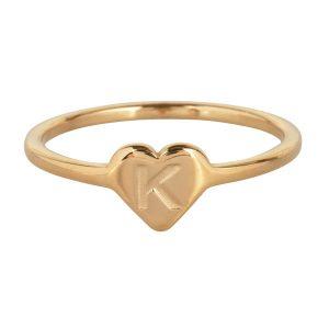 ring met letter k goud