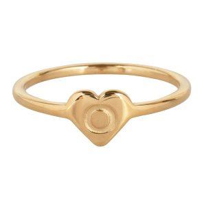 ring met letter o goud