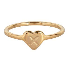 ring met letter x goud