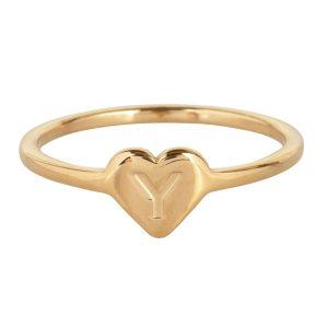 ring met letter y goud
